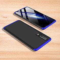 Custodia Plastica Rigida Cover Opaca Fronte e Retro 360 Gradi per Xiaomi Mi 9 Pro Blu e Nero