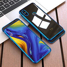 Custodia Plastica Rigida Cover Opaca Fronte e Retro 360 Gradi per Xiaomi Mi Mix 3 Blu