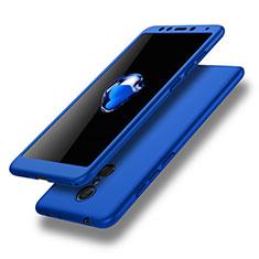 Custodia Plastica Rigida Cover Opaca Fronte e Retro 360 Gradi per Xiaomi Redmi 5 Blu