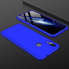 Custodia Plastica Rigida Cover Opaca Fronte e Retro 360 Gradi per Xiaomi Redmi 7 Blu