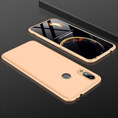 Custodia Plastica Rigida Cover Opaca Fronte e Retro 360 Gradi per Xiaomi Redmi 7 Oro
