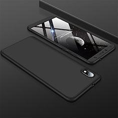Custodia Plastica Rigida Cover Opaca Fronte e Retro 360 Gradi per Xiaomi Redmi 7A Nero