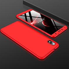 Custodia Plastica Rigida Cover Opaca Fronte e Retro 360 Gradi per Xiaomi Redmi 7A Rosso