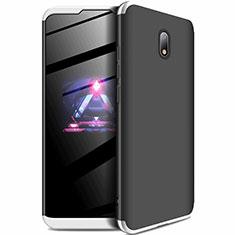 Custodia Plastica Rigida Cover Opaca Fronte e Retro 360 Gradi per Xiaomi Redmi 8A Argento e Nero
