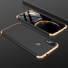 Custodia Plastica Rigida Cover Opaca Fronte e Retro 360 Gradi per Xiaomi Redmi Note 7 Pro Oro e Nero