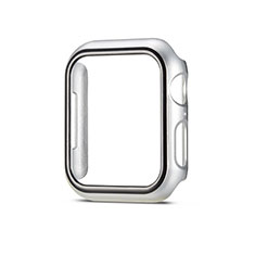 Custodia Plastica Rigida Cover Opaca M01 per Apple iWatch 5 40mm Argento