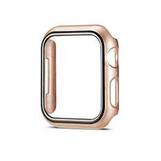 Custodia Plastica Rigida Cover Opaca M01 per Apple iWatch 5 44mm Oro