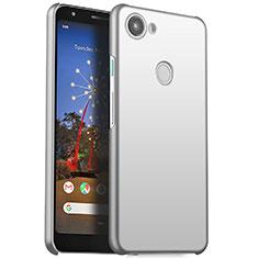 Custodia Plastica Rigida Cover Opaca M01 per Google Pixel 3a Argento