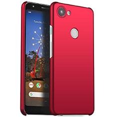 Custodia Plastica Rigida Cover Opaca M01 per Google Pixel 3a Rosso
