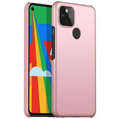 Custodia Plastica Rigida Cover Opaca M01 per Google Pixel 5 Oro Rosa