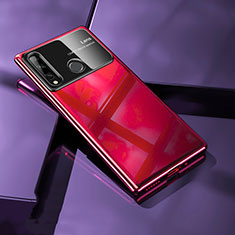 Custodia Plastica Rigida Cover Opaca M01 per Huawei Enjoy 10 Plus Rosso