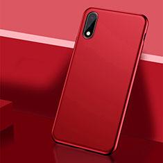 Custodia Plastica Rigida Cover Opaca M01 per Huawei Enjoy 10 Rosso