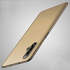 Custodia Plastica Rigida Cover Opaca M01 per Huawei Nova 5 Oro