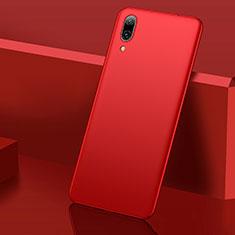 Custodia Plastica Rigida Cover Opaca M01 per Huawei Y7 Prime (2019) Rosso
