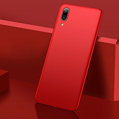 Custodia Plastica Rigida Cover Opaca M01 per Huawei Y7 Pro (2019) Rosso