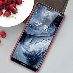 Custodia Plastica Rigida Cover Opaca M01 per Nokia 6.1 Plus Rosso