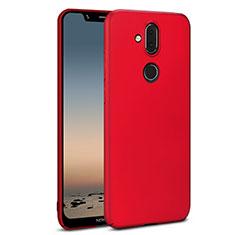 Custodia Plastica Rigida Cover Opaca M01 per Nokia 7.1 Plus Rosso
