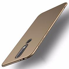 Custodia Plastica Rigida Cover Opaca M01 per Nokia X5 Oro