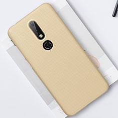 Custodia Plastica Rigida Cover Opaca M01 per Nokia X6 Oro