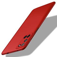 Custodia Plastica Rigida Cover Opaca M01 per Oppo A52 Rosso