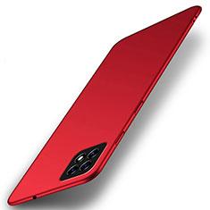 Custodia Plastica Rigida Cover Opaca M01 per Oppo A73 5G Rosso