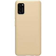 Custodia Plastica Rigida Cover Opaca M01 per Samsung Galaxy A41 Oro