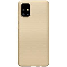 Custodia Plastica Rigida Cover Opaca M01 per Samsung Galaxy A51 5G Oro