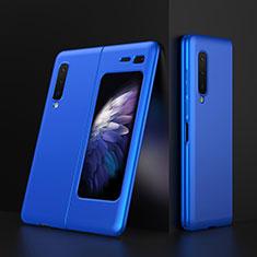 Custodia Plastica Rigida Cover Opaca M01 per Samsung Galaxy Fold Blu