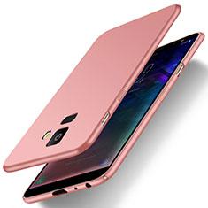 Custodia Plastica Rigida Cover Opaca M01 per Samsung Galaxy J6 (2018) J600F Oro Rosa