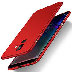 Custodia Plastica Rigida Cover Opaca M01 per Samsung Galaxy J6 (2018) J600F Rosso