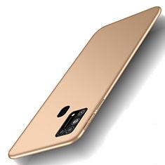 Custodia Plastica Rigida Cover Opaca M01 per Samsung Galaxy M21s Oro
