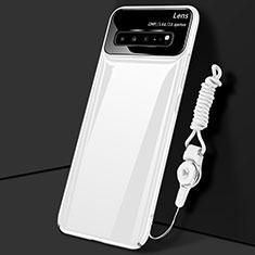 Custodia Plastica Rigida Cover Opaca M01 per Samsung Galaxy S10 5G SM-G977B Bianco