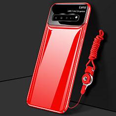 Custodia Plastica Rigida Cover Opaca M01 per Samsung Galaxy S10 5G SM-G977B Rosso