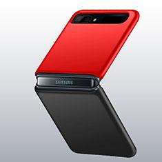 Custodia Plastica Rigida Cover Opaca M01 per Samsung Galaxy Z Flip Rosso e Nero