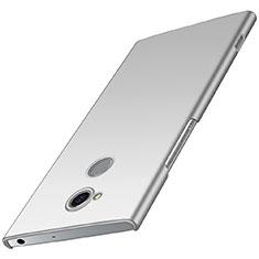 Custodia Plastica Rigida Cover Opaca M01 per Sony Xperia XA2 Plus Argento