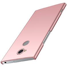Custodia Plastica Rigida Cover Opaca M01 per Sony Xperia XA2 Plus Oro Rosa
