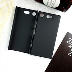 Custodia Plastica Rigida Cover Opaca M01 per Sony Xperia XZ1 Compact Nero