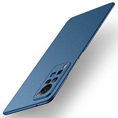 Custodia Plastica Rigida Cover Opaca M01 per Vivo X60 Pro 5G Blu