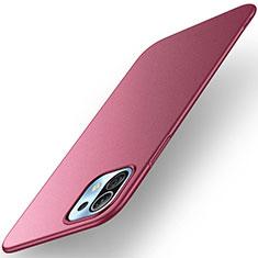 Custodia Plastica Rigida Cover Opaca M01 per Xiaomi Mi 11 5G Rosso Rosa