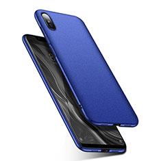 Custodia Plastica Rigida Cover Opaca M01 per Xiaomi Mi 8 Screen Fingerprint Edition Blu