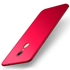 Custodia Plastica Rigida Cover Opaca M01 per Xiaomi Redmi 5 Rosso