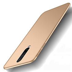 Custodia Plastica Rigida Cover Opaca M01 per Xiaomi Redmi K30i 5G Oro