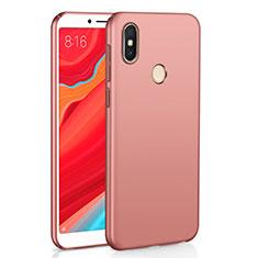 Custodia Plastica Rigida Cover Opaca M01 per Xiaomi Redmi Y2 Oro Rosa