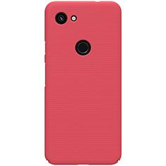 Custodia Plastica Rigida Cover Opaca M02 per Google Pixel 3a Rosso