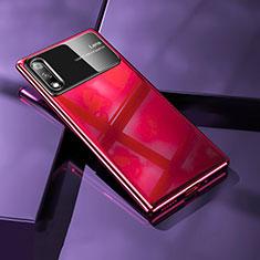 Custodia Plastica Rigida Cover Opaca M02 per Huawei Enjoy 10 Rosso