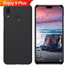 Custodia Plastica Rigida Cover Opaca M02 per Huawei Enjoy 9 Plus Nero