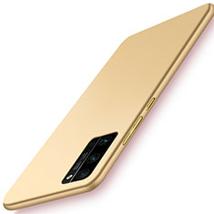 Custodia Plastica Rigida Cover Opaca M02 per Huawei Honor 30 Pro+ Plus Oro