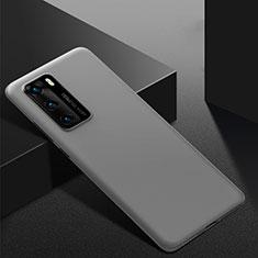 Custodia Plastica Rigida Cover Opaca M02 per Huawei P40 Grigio
