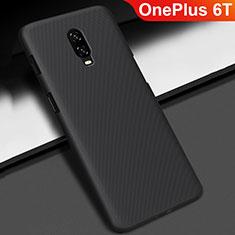 Custodia Plastica Rigida Cover Opaca M02 per OnePlus 6T Nero