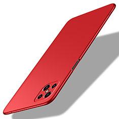 Custodia Plastica Rigida Cover Opaca M02 per Oppo Reno4 Z 5G Rosso